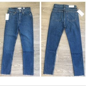 Re/Done High Rise Ankle Crop stretch 25 BNWT